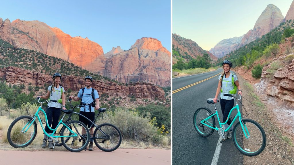 Bike Riding on Zion Scenic Drive