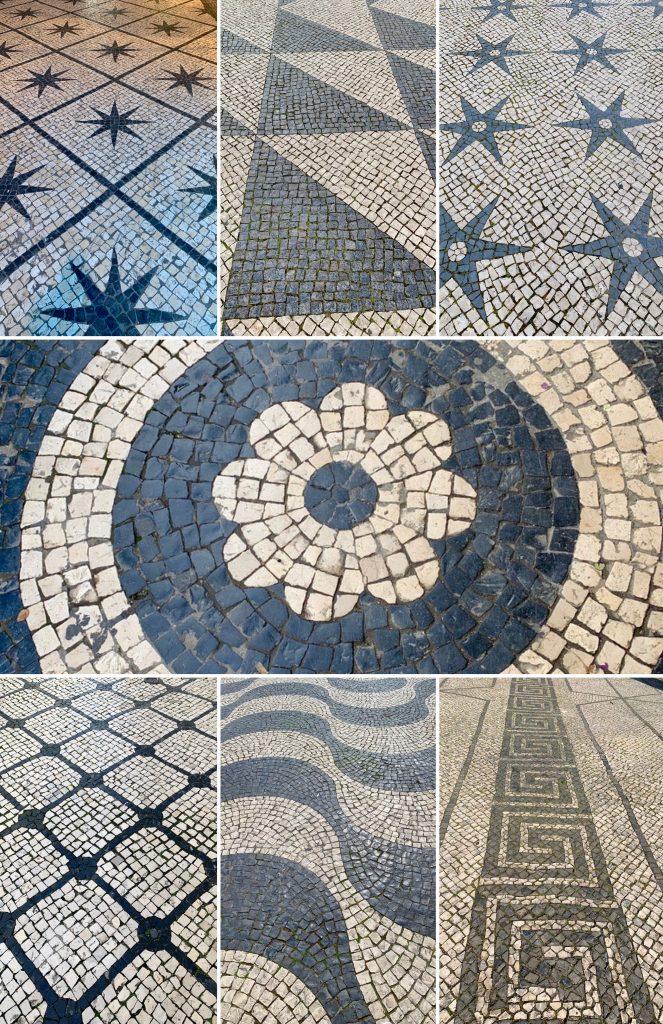Different Cobblestone Sidewalks throughout Lisbon