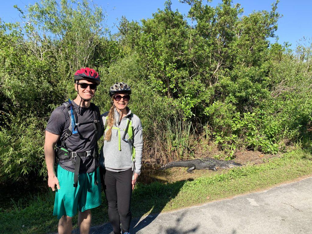 Biking in Shark Valley, Everglades National Park